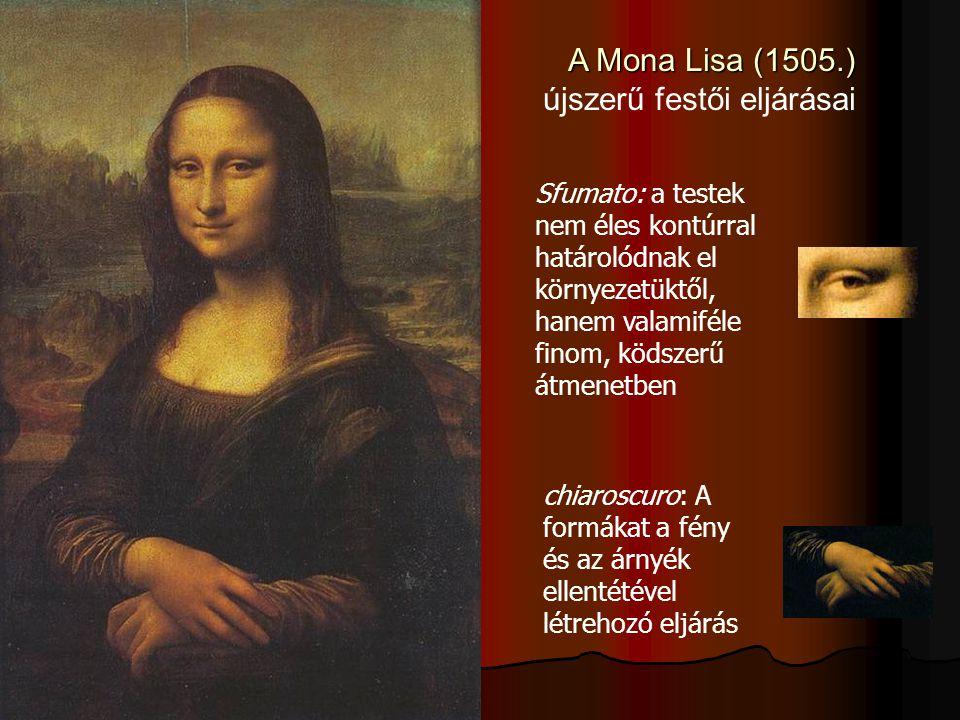 A Mona Lisa (1505.) újszerű festői eljárásai