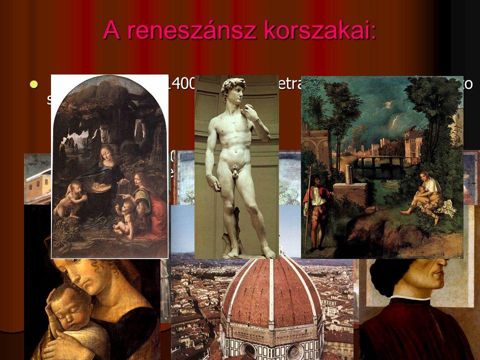A reneszánsz korszakai: