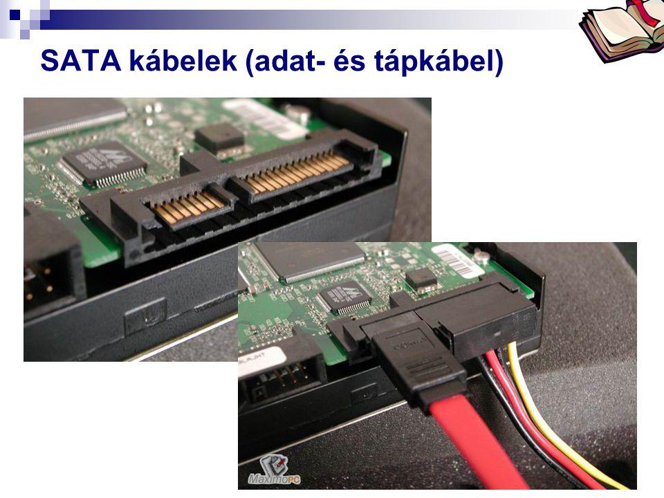 SATA kábelek (adat- és tápkábel)