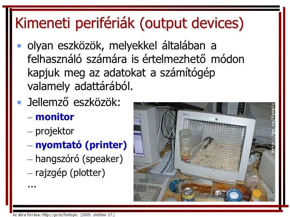Kimeneti perifériák (output devices)