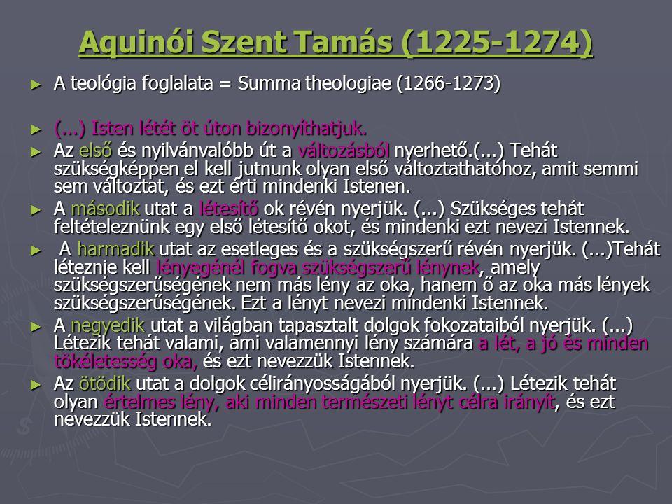 Aquinói Szent Tamás (1225-1274)