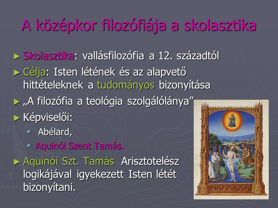 A középkor filozófiája a skolasztika