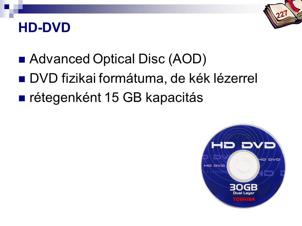 Advanced Optical Disc (AOD) DVD fizikai formátuma, de kék lézerrel