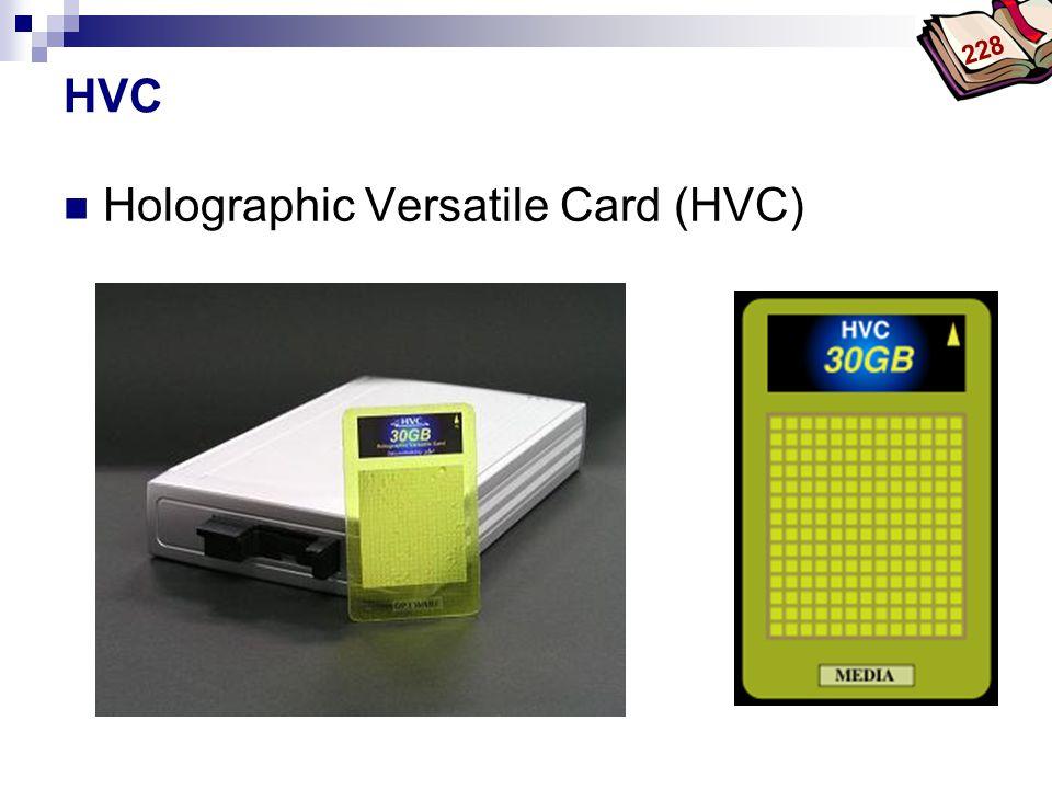 Holographic Versatile Card (HVC)