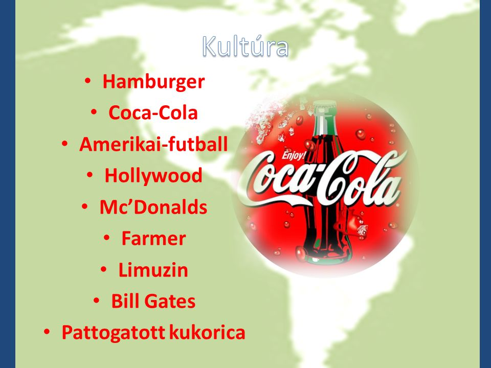 Kultúra Hamburger Coca-Cola Amerikai-futball Hollywood Mc'Donalds