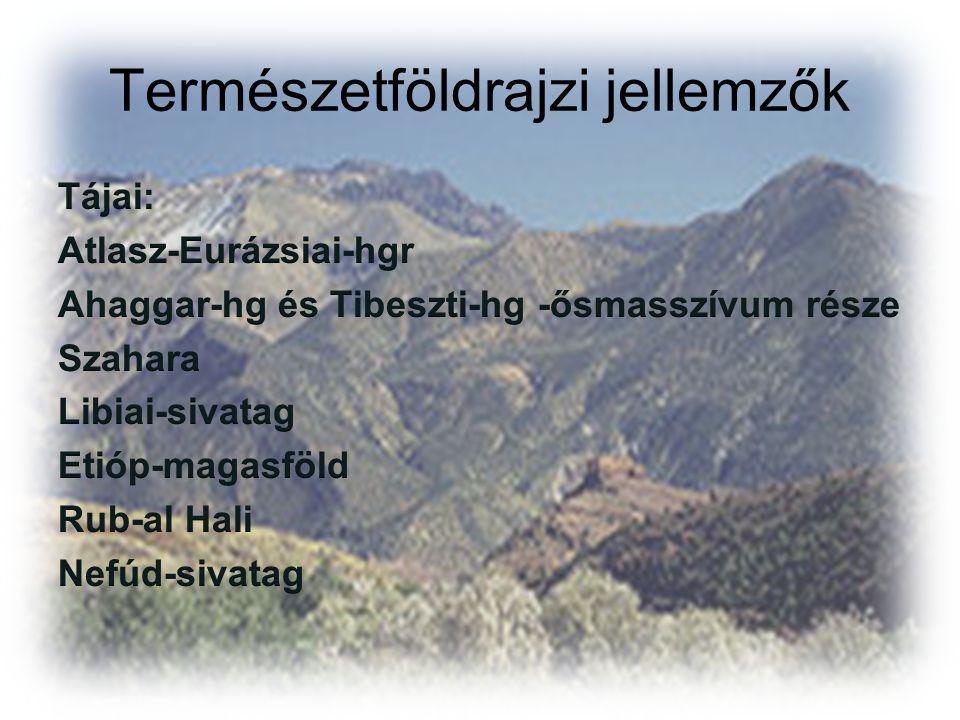 Természetföldrajzi jellemzők