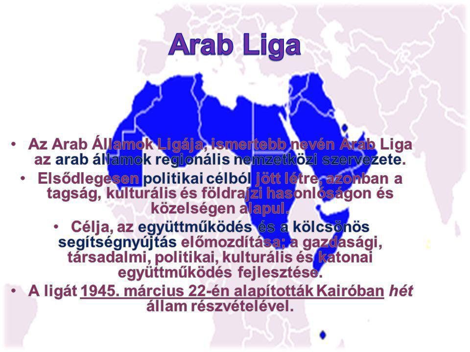 Arab Liga Az Arab Államok Ligája, ismertebb nevén Arab Liga az arab államok regionális nemzetközi szervezete.