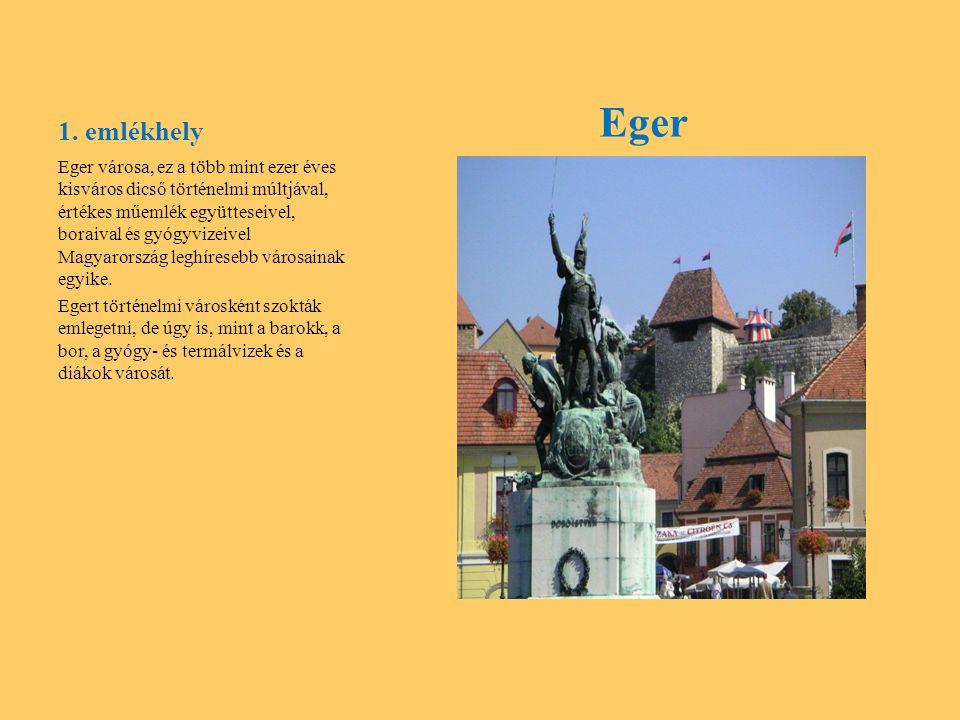 1. emlékhely Eger.