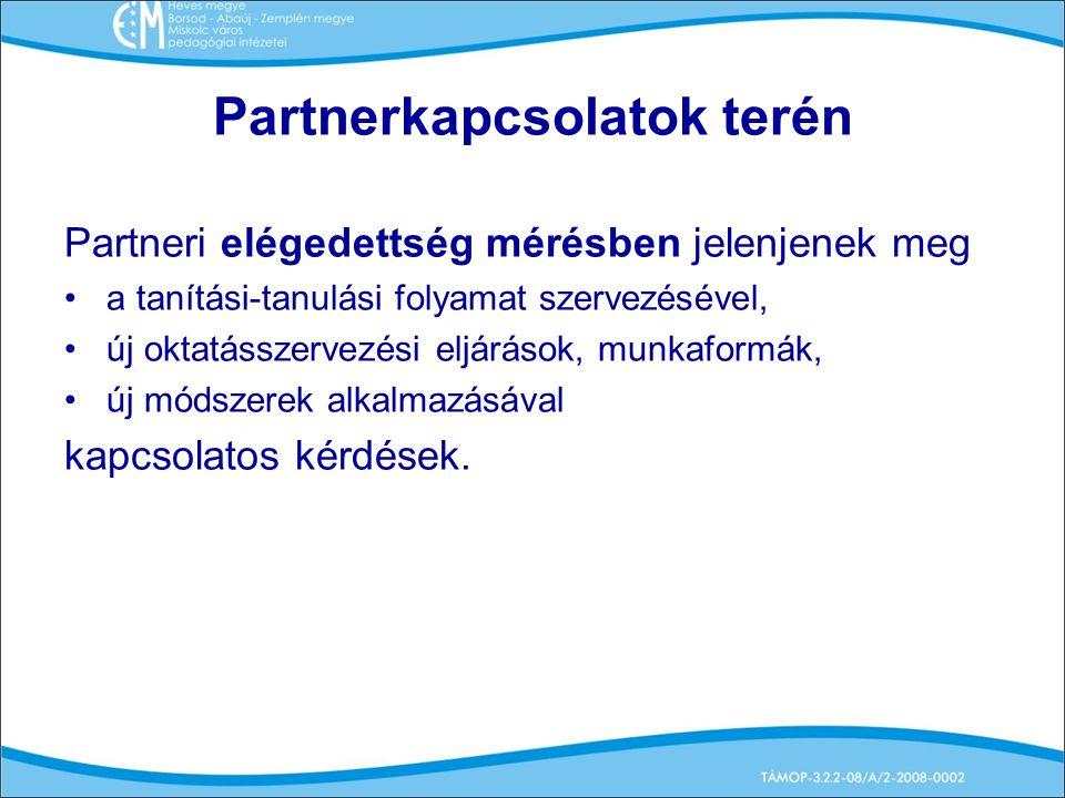 Partnerkapcsolatok terén