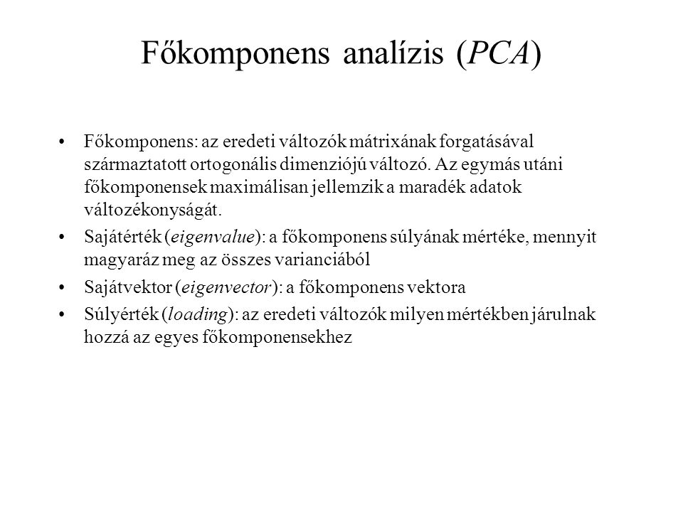 Főkomponens analízis (PCA)