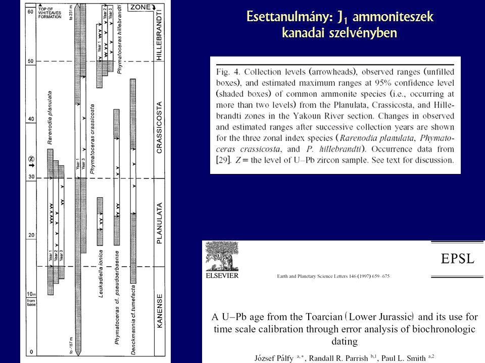 Esettanulmány: J1 ammoniteszek kanadai szelvényben
