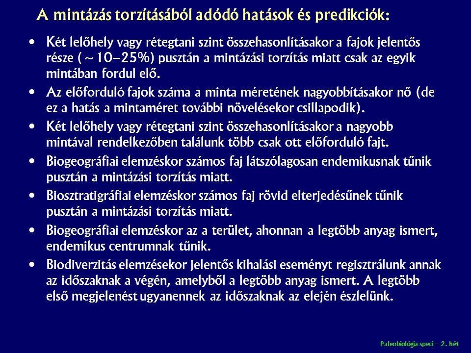 A mintázás torzításából adódó hatások és predikciók: