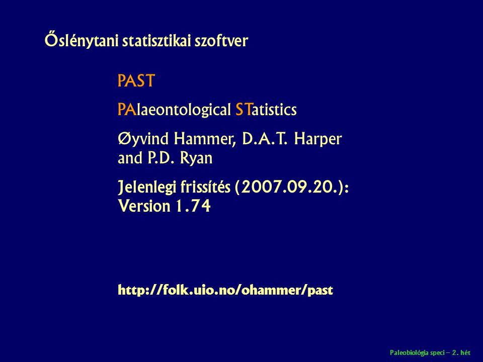 Őslénytani statisztikai szoftver