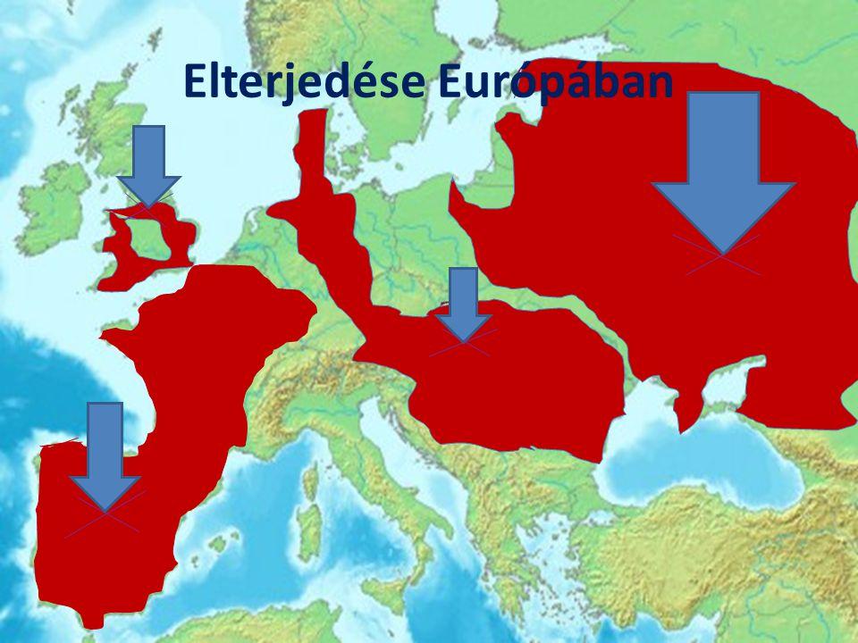 Elterjedése Európában
