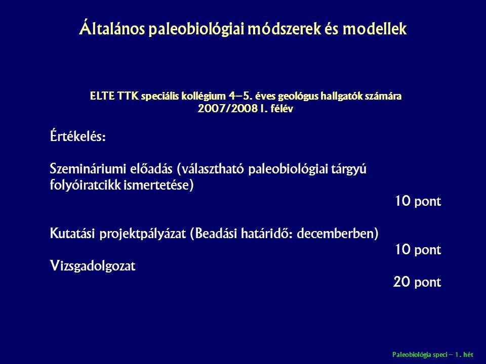 ELTE TTK speciális kollégium 4–5. éves geológus hallgatók számára