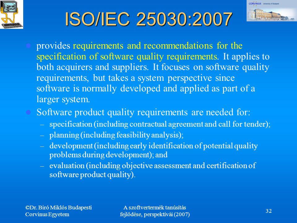 A szoftvertermék tanúsítás fejlődése, perspektívái (2007)