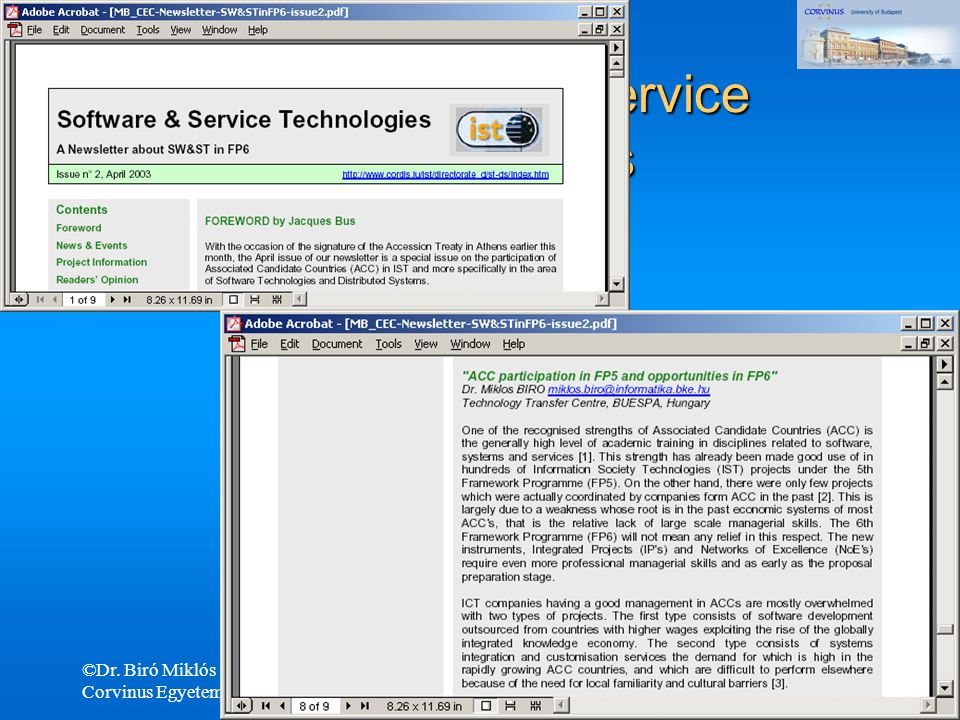 EU Software & Service Technologies