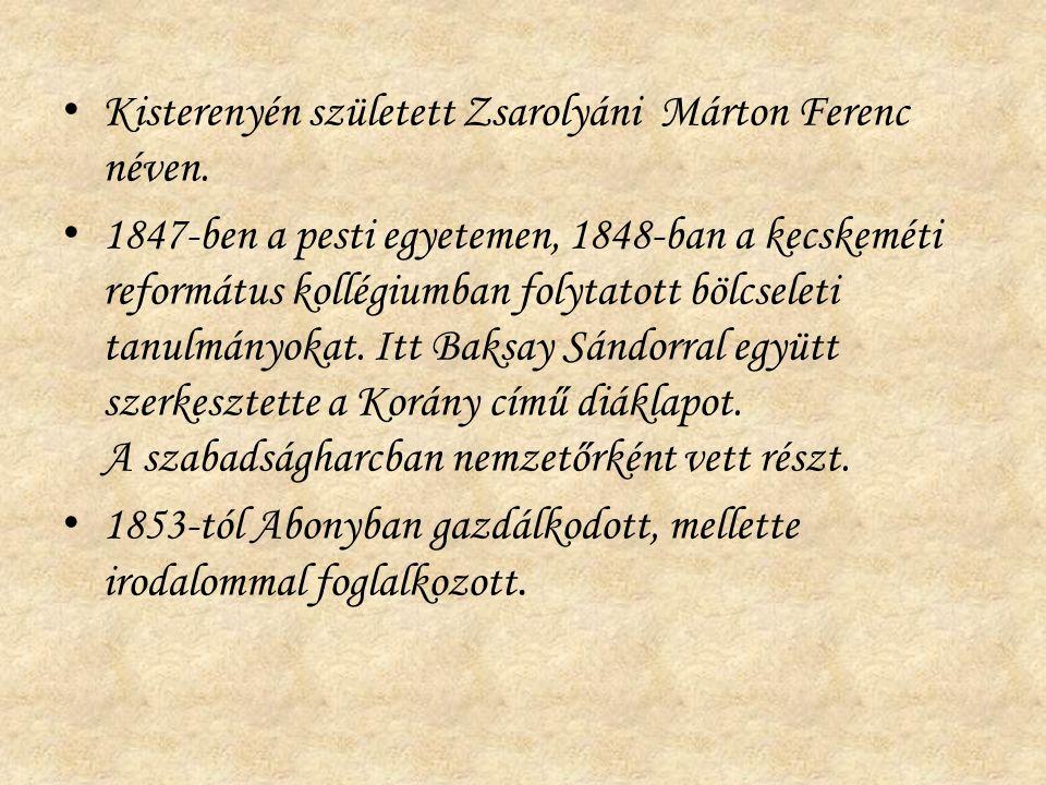 Kisterenyén született Zsarolyáni Márton Ferenc néven.