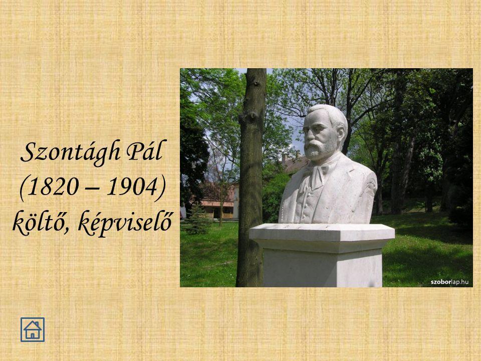 Szontágh Pál (1820 – 1904) költő, képviselő