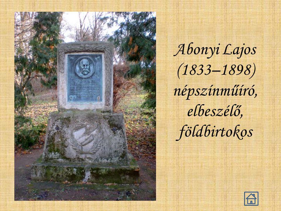 Abonyi Lajos (1833–1898) népszínműíró, elbeszélő, földbirtokos