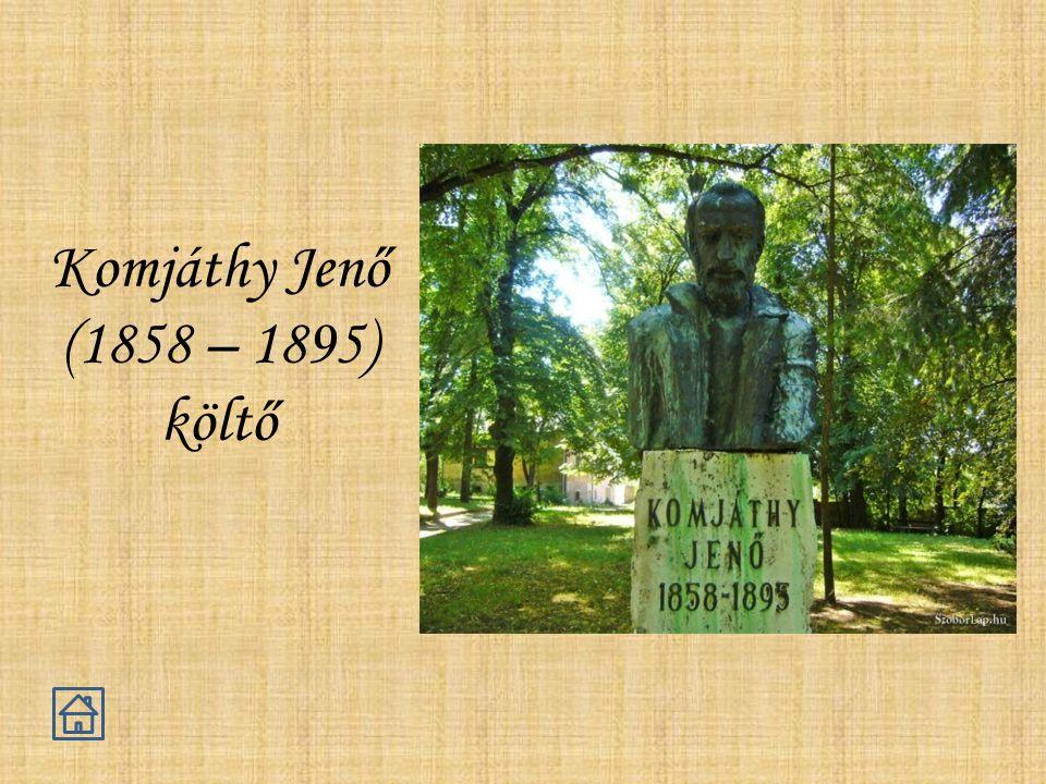 Komjáthy Jenő (1858 – 1895) költő