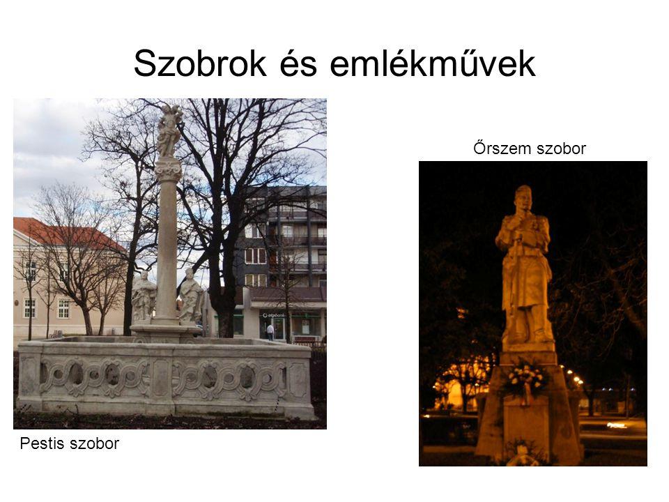 Szobrok és emlékművek Őrszem szobor Pestis szobor