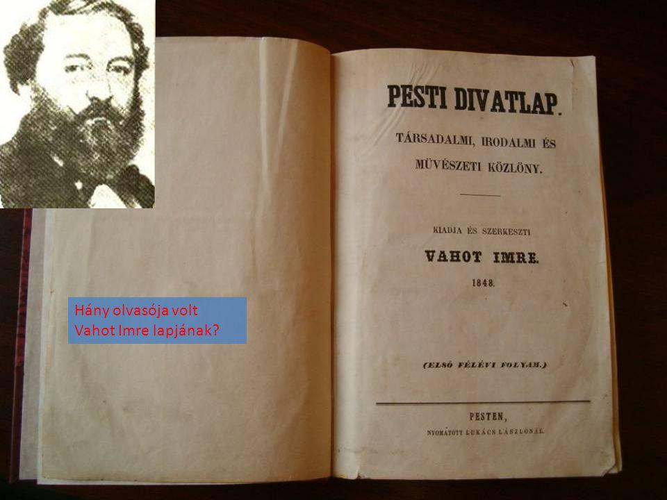 Hány olvasója volt Vahot Imre lapjának