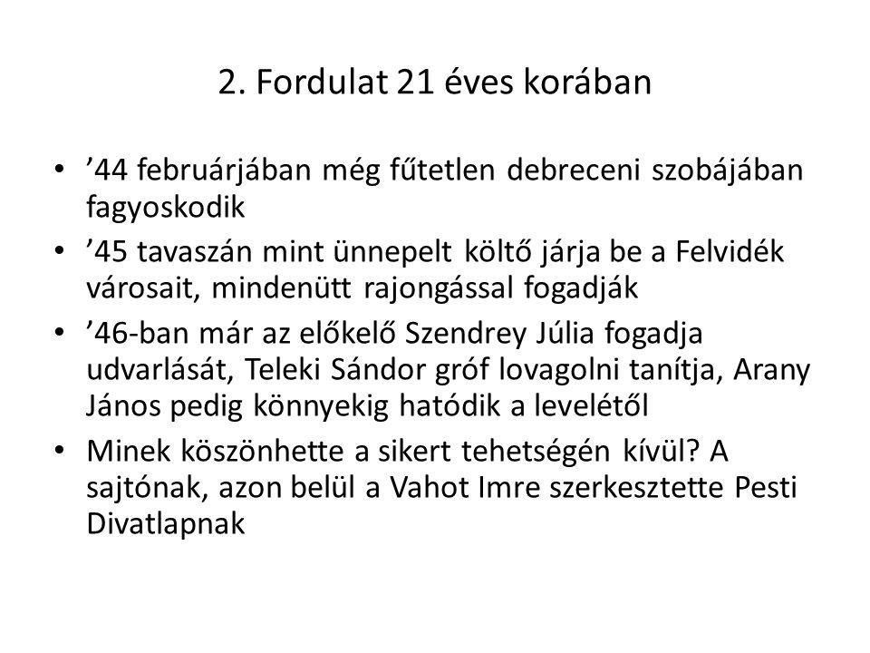 2. Fordulat 21 éves korában '44 februárjában még fűtetlen debreceni szobájában fagyoskodik.