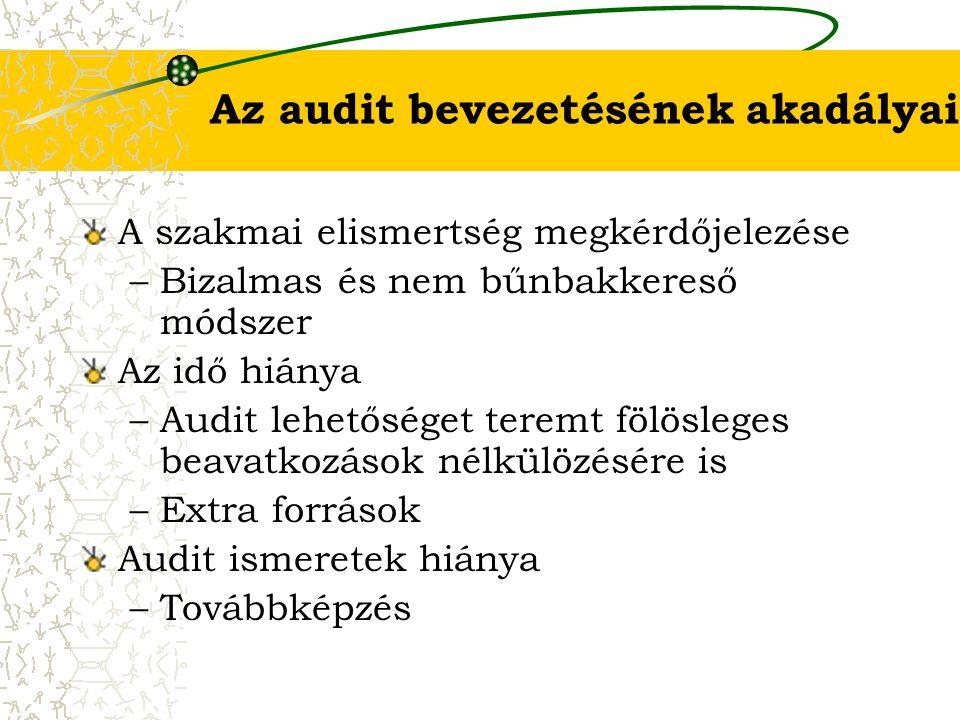 Az audit bevezetésének akadályai
