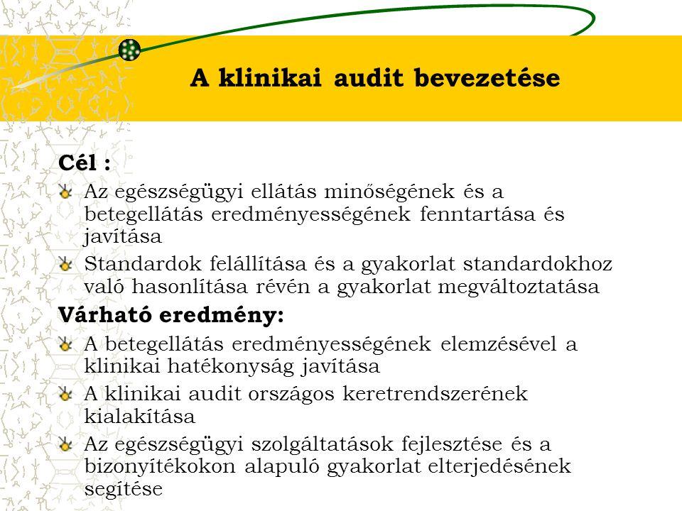 A klinikai audit bevezetése