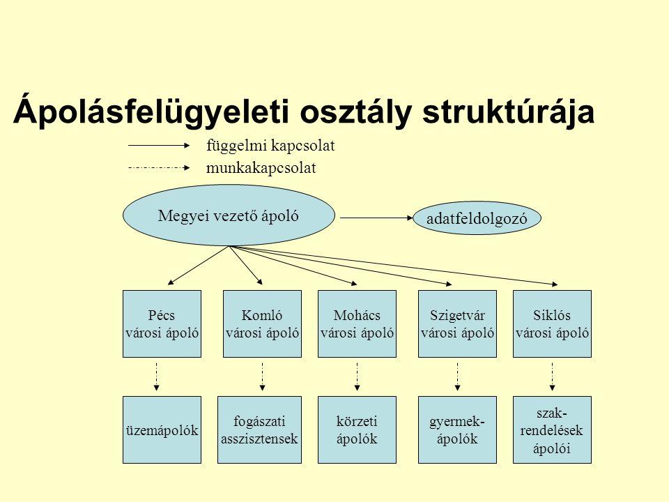 Ápolásfelügyeleti osztály struktúrája