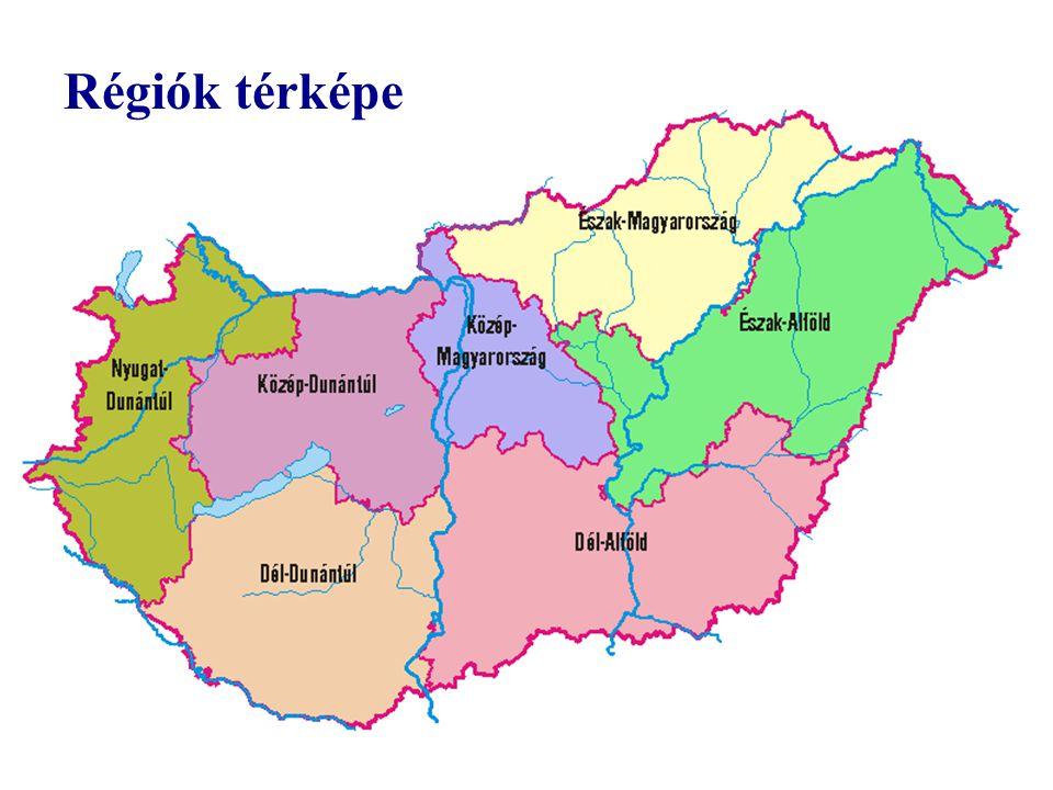 Régiók térképe