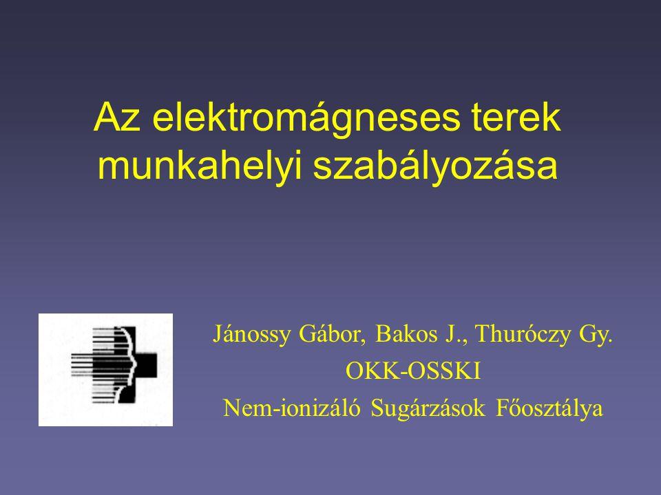 Az elektromágneses terek munkahelyi szabályozása