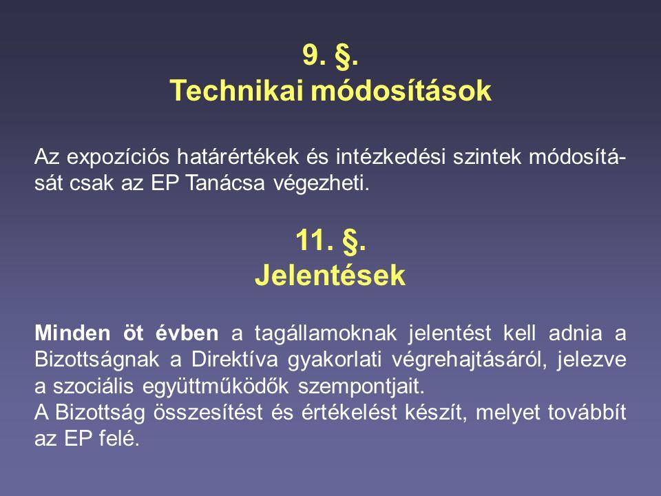 Technikai módosítások