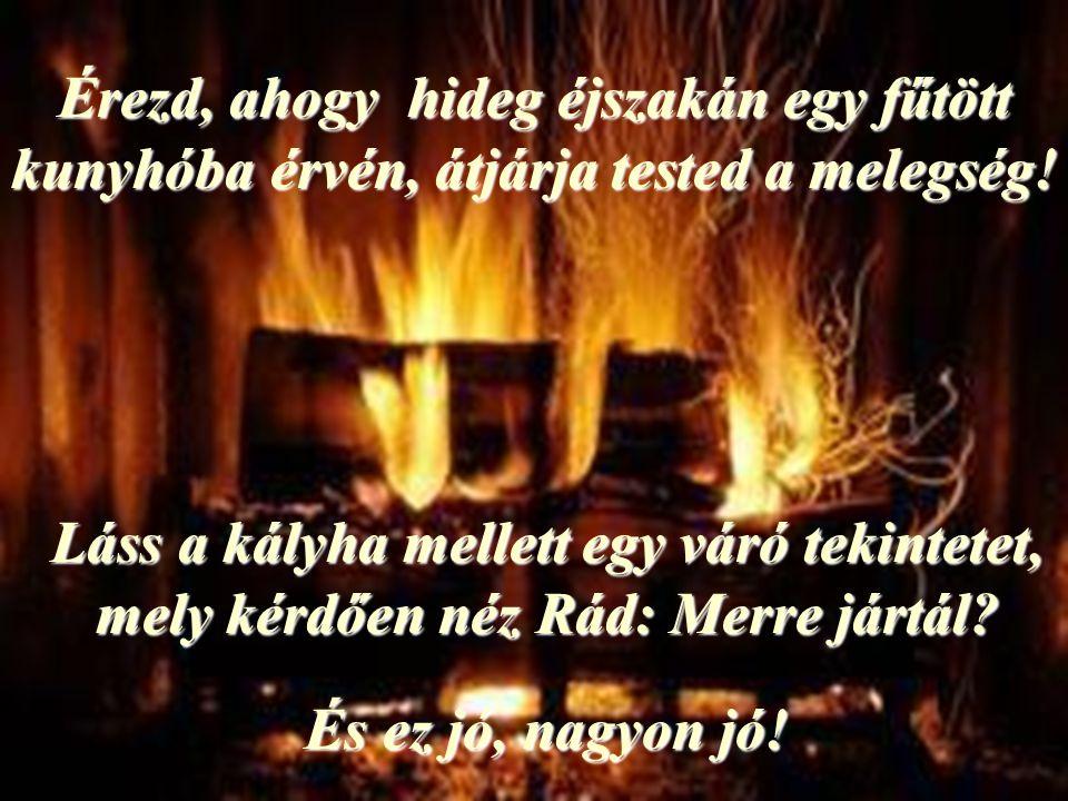 Érezd, ahogy hideg éjszakán egy fűtött kunyhóba érvén, átjárja tested a melegség!