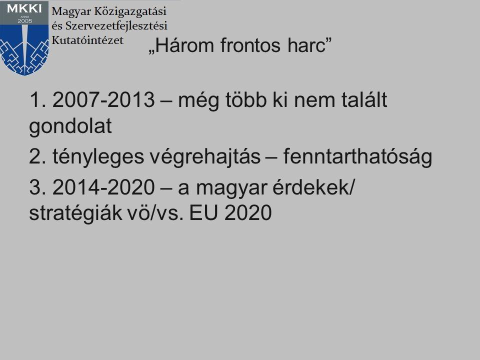 1. 2007-2013 – még több ki nem talált gondolat
