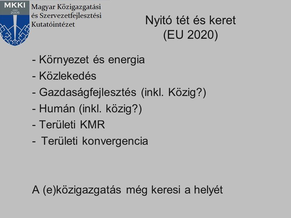 Nyitó tét és keret (EU 2020) - Környezet és energia - Közlekedés