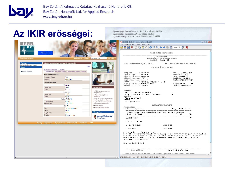 Az IKIR erősségei: Erős adatvédelem