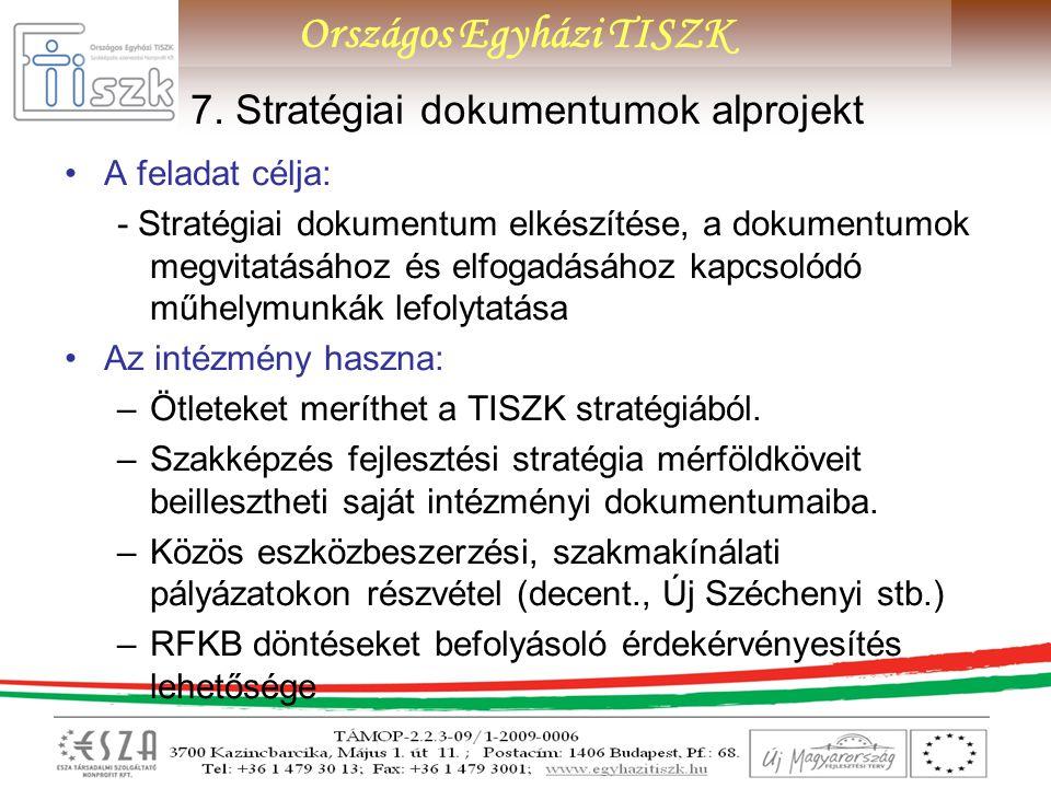 7. Stratégiai dokumentumok alprojekt