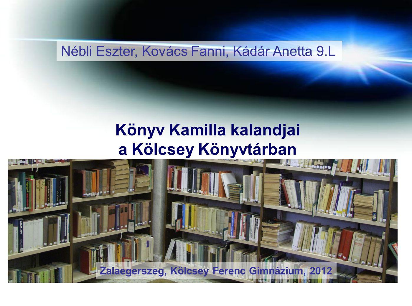Könyv Kamilla kalandjai