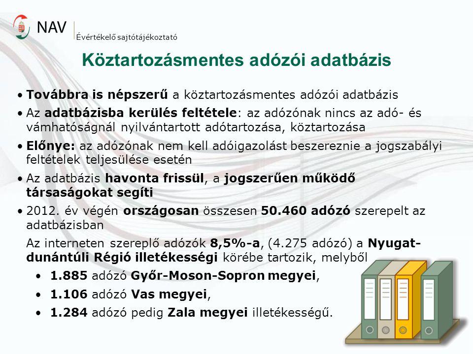 Köztartozásmentes adózói adatbázis