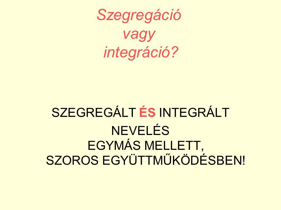 Szegregáció vagy integráció