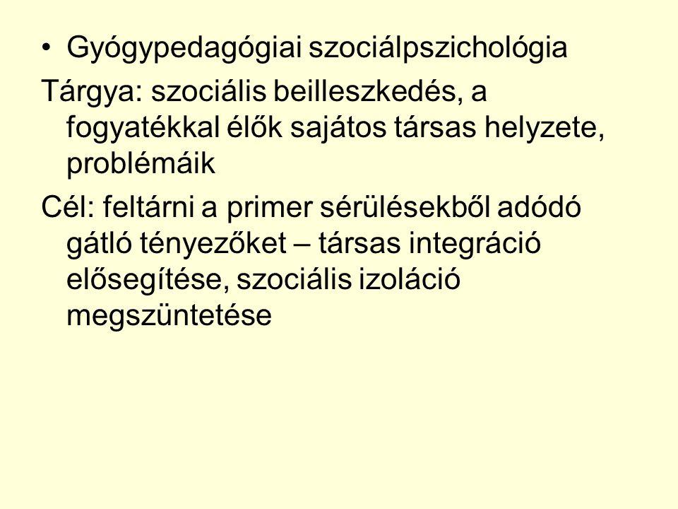 Gyógypedagógiai szociálpszichológia