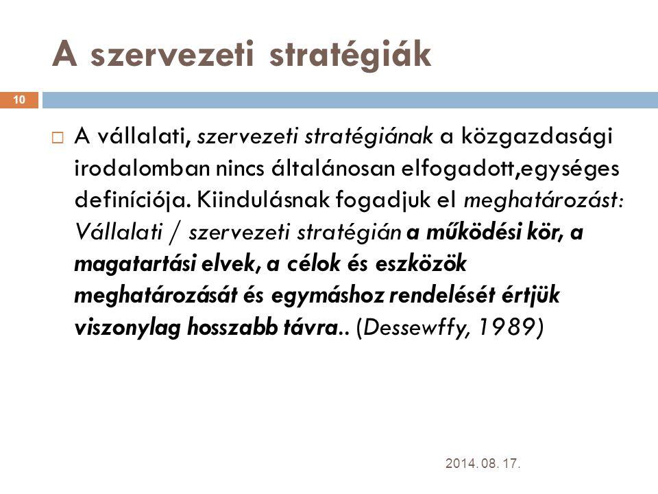 A szervezeti stratégiák