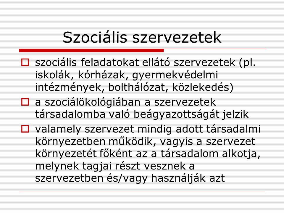 Szociális szervezetek