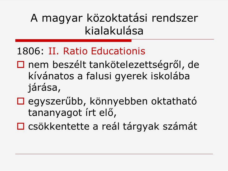 A magyar közoktatási rendszer kialakulása