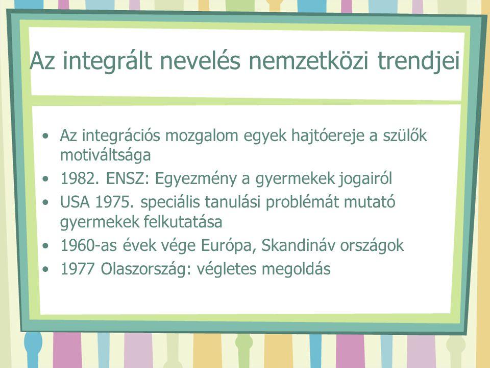 Az integrált nevelés nemzetközi trendjei