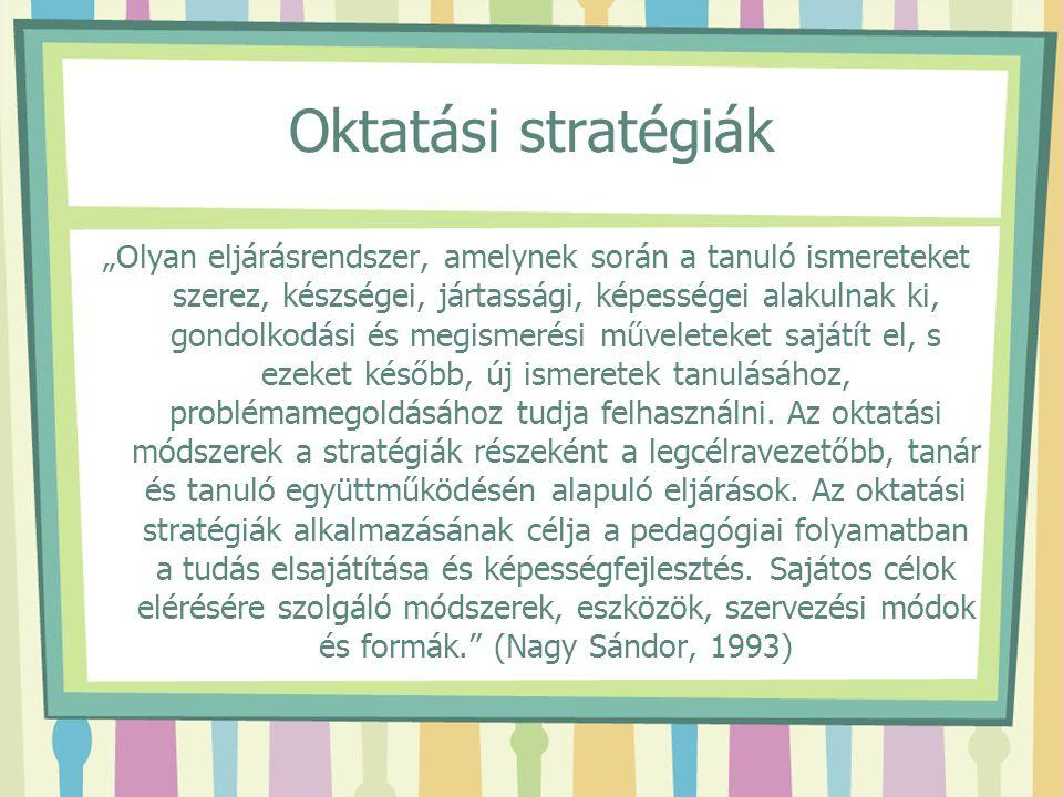 Oktatási stratégiák