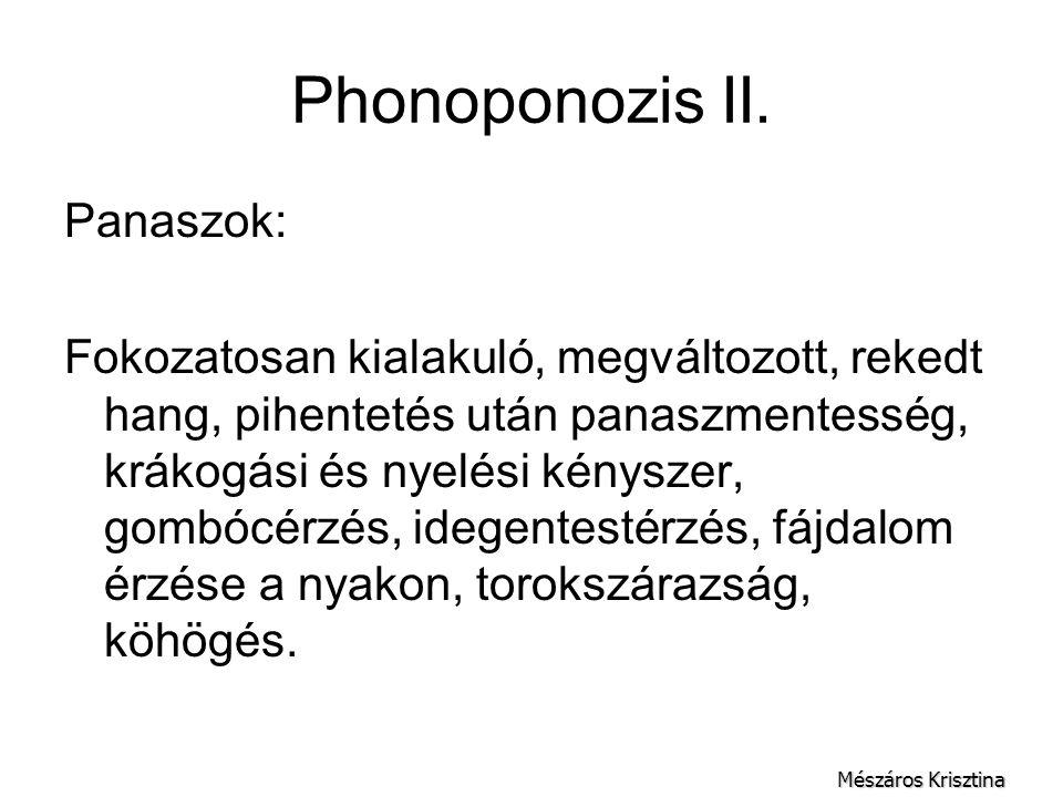 Phonoponozis II. Panaszok: