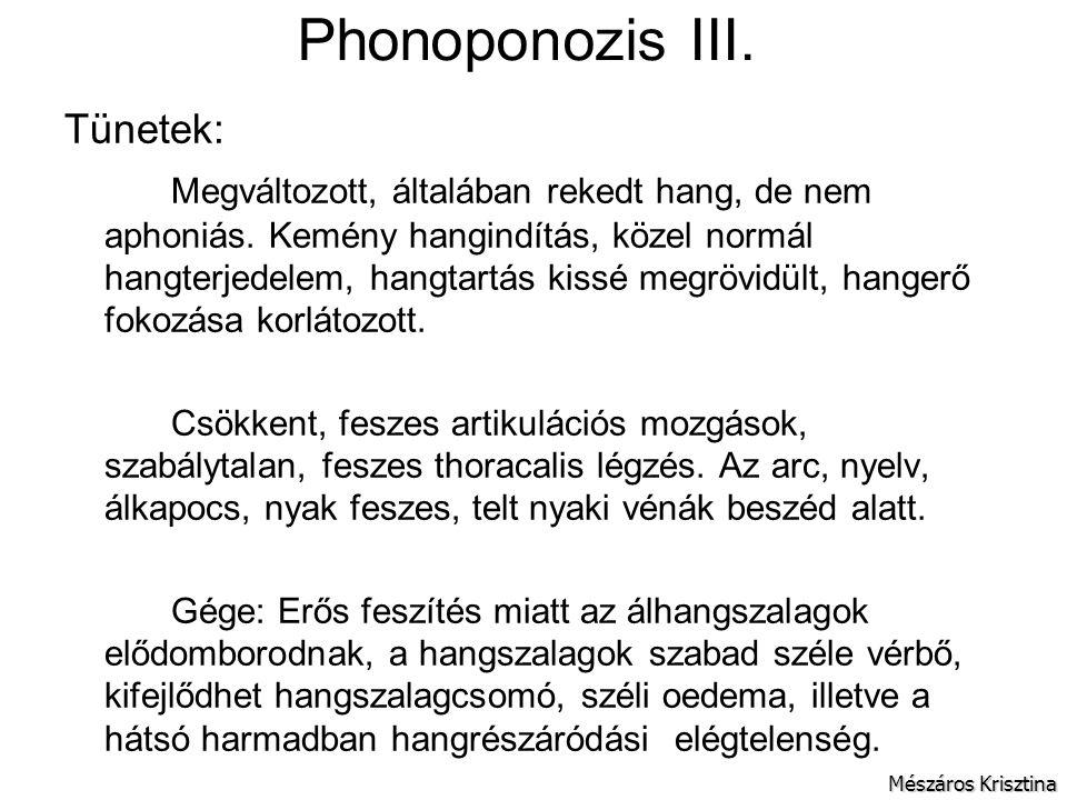 Phonoponozis III. Tünetek: